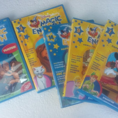 DVD MAGIC ENGLISH DISNEY VOLUMUL 2, 3, 4, 7, 9, 14 .FARA ZGARIETURI PE DVD !! - Film animatie disney pictures, Romana