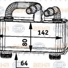 Radiator ulei, ulei motor BMW 5 limuzina 545 i - HELLA 8MO 376 726-371 - Radiator auto ulei