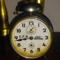 Nr 378 Ceas de masa CFR functional cu revizia facuta recent - foarte rar.