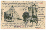 37 - BUCURESTI, Carol Ave, tramway - old postcard - used - 1905