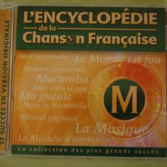 ENCICLOPEDIA CANTECULUI FRANCEZ Litera M/1 - C D Original ca NOU - Muzica Pop universal records