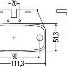 Lampa laterala - HELLA 2PS 963 639-077