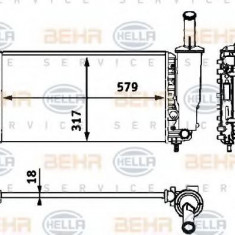 Radiator, racire motor FIAT PUNTO 1.2 60 - HELLA 8MK 376 718-581 - Radiator racire LuK