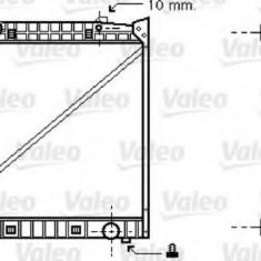 Radiator, racire motor MERCEDES-BENZ ACTROS 1843, 1843 L - VALEO 733417 - Radiator racire Bosch