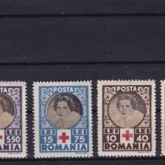 ROMANIA 1945, LP 165, CRUCEA ROSIE SERIE MNH - Timbre Romania, Nestampilat