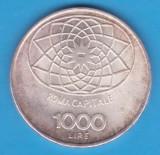 (1) MONEDA DIN ARGINT ITALIA - 1000 LIRE 1970 - CONCORDIA - 100 DE ANI REPUBLICA, Europa
