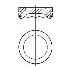 Piston SMART CITY-COUPE 0.6 - NÜRAL 87-136707-00