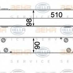 Intercooler, compresor BMW 3 Touring 318 d - HELLA 8ML 376 731-791