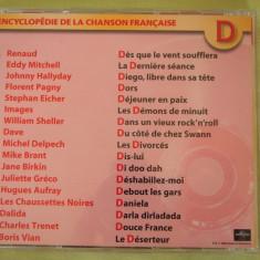 ENCICLOPEDIA CANTECULUI FRANCEZ Litera D/1 - C D Original ca NOU - Muzica Pop universal records
