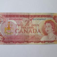 CANADA, 2 DOLLARS 1974 - bancnota america, An: 1943