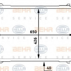 Radiator, racire motor - HELLA 8MK 376 706-611 - Radiator racire LuK