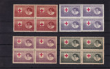 ROMANIA  1946 , SERVICIUL PRIZONIERI  CRUCEA ROSIE  BLOC DE 4   MNH, Nestampilat