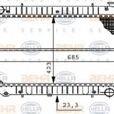 Radiator, racire motor NISSAN SERENA 2.3 D - HELLA 8MK 376 706-521 - Radiator racire LuK