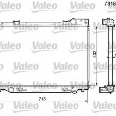 Radiator, racire motor TOYOTA ESTIMA 2.4 - VALEO 731833 - Radiator racire Bosch