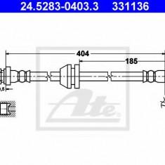 Furtun frana CHEVROLET Spark 0.8 LPG - ATE 24.5283-0403.3, REINZ