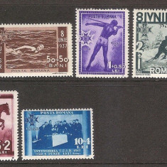 Sport, Uniunea Federatiilor Sportive, 1937, nr. lista 119 - Timbre Romania, Nestampilat