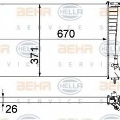 Radiator, racire motor PEUGEOT 306 hatchback 1.9 D - HELLA 8MK 376 717-611 - Radiator racire LuK