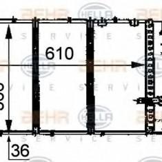 Radiator, racire motor CITROËN ZX 1.9 TD - HELLA 8MK 376 707-281 - Radiator racire LuK