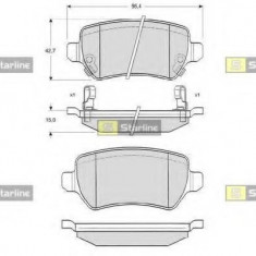 Placute frana - STARLINE BD S320