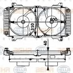 Radiator, racire motor - HELLA 8MK 376 710-121 - Radiator racire LuK