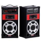 LICHIDARE! SISTEM BOXE ACTIVE KARAOKE, MIXER, STATIE, MP3 PLAYER USB+2 MICROFOANE. - Echipament karaoke