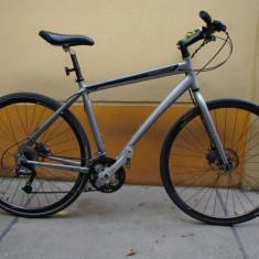 Bicicleta TREK SOHO 1.0 - Bicicleta de oras Trek, 20 inch, 28 inch, Numar viteze: 24, Aluminiu, Gri metalizat