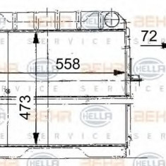 Radiator, racire motor - HELLA 8MK 376 709-201 - Radiator racire LuK