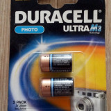 SET 2 BATERII CR2 / DLCR2 / ELCR2 (Lithium 3 volţi) - DURACELL FOTO ULTRA M3