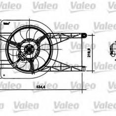 Motor electric, ventilator FORD FIESTA Mk IV 1.6 16V Sport - VALEO 698493 - Electroventilator auto
