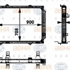 Radiator, racire motor - HELLA 8MK 376 722-341 - Radiator racire LuK