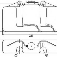 Rezervor apa, spalare parbriz - HELLA 8BW 003 443-047