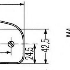 Iluminare numar de circulatie - HELLA 2KA 001 386-497