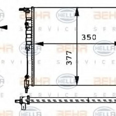 Radiator, racire motor RENAULT CLIO  1.1 - HELLA 8MK 376 717-361 - Radiator racire LuK