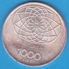 (4) MONEDA DIN ARGINT ITALIA - 1000 LIRE 1970 - CONCORDIA - 100 DE ANI REPUBLICA, Europa