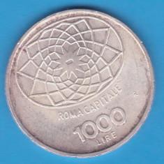 (6) MONEDA DIN ARGINT ITALIA - 1000 LIRE 1970 - CONCORDIA - 100 DE ANI REPUBLICA, Europa