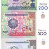 Bancnota Uzbekistan 200, 500 si 1.000 Sum 1997-01 - P80-82 UNC (set 3 bancnote) - bancnota asia