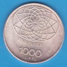 (5) MONEDA DIN ARGINT ITALIA - 1000 LIRE 1970 - CONCORDIA - 100 DE ANI REPUBLICA, Europa