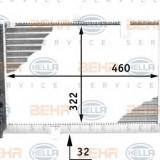 Radiator, racire motor LANCIA PRISMA 1.6 i.e. Super - HELLA 8MK 376 713-481
