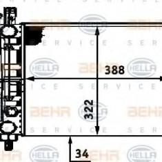 Radiator, racire motor FIAT UNO 55 1.1 - HELLA 8MK 376 713-521 - Radiator racire LuK