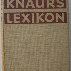 Knaurs Lexikon A-Z - Dictionar explicativ in lb. germana cu ilustratii - Dictionar ilustrat