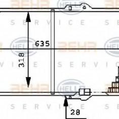 Radiator, racire motor OPEL KADETT E hatchback 1.6 i - HELLA 8MK 376 715-691 - Radiator racire LuK