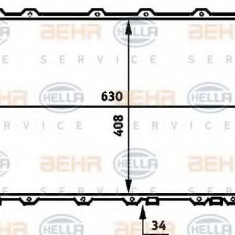 Radiator, racire motor AUDI 100 limuzina 2.6 - HELLA 8MK 376 713-611 - Radiator racire LuK