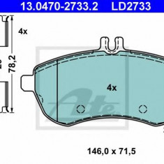 Placute frana REINZ MERCEDES-BENZ C-CLASS limuzina C 180 CDI - ATE 13.0470-2733.2