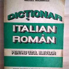 Dictionar italian-roman pentru uzul elevilor