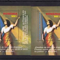 ROMANIA 1998, LP 1448, ZIUA TRICOLORULUI 2 COLITE MNH - Timbre Romania, Nestampilat