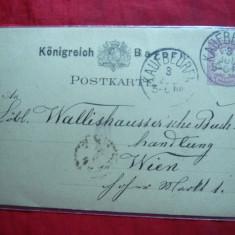Carte Postala cu marca fixa 5 pf.violet 1882 Bavaria