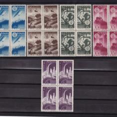 ROMANIA 1947, LP 221, AGIR BLOCURI DE 4 TIMBRE MNH - Timbre Romania, Nestampilat