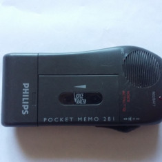 REPORTOFON PHILIPS POCKET MEMO 281, FUNCTIONEAZA .