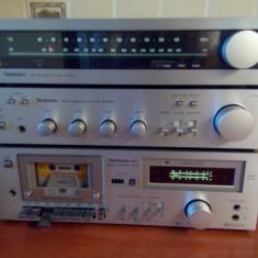 Linie audio vintage Technics, tuner ST8011, amplificator SU8022, deck M12 din 1980 - Combina audio Technics, Separate, 0-40 W