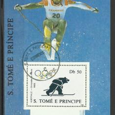 BLOC SAO TOME E PRINCIPE - Timbre straine, Sport, Stampilat